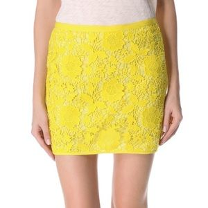 Madewell Violette Lace Skirt Jester Yellow